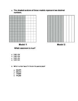 Math Review Test