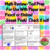Math Review/Test Prep Preview!
