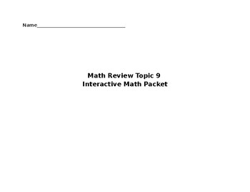 Math Review Topic 9  Interactive Math Packet - Division and Multiplication