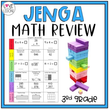 Math Review Topple Blocks Game (3rd)