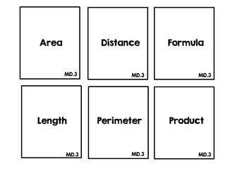 Math Review Vocabulary Headbandz Game MD standards Fourth Grade