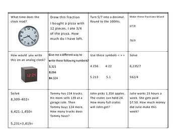 Math Review Week 2