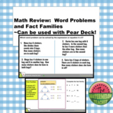 Math Review:  Word Problems and Fact Families