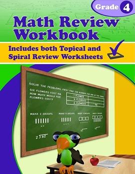 Math Review Workbook - Grade 4