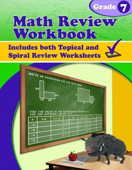 Math Review Workbook - Grade 7