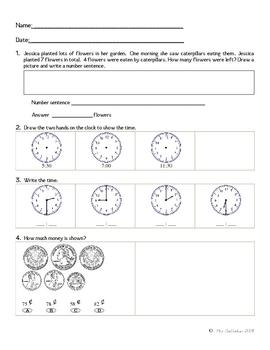 Math Review Worksheet 1