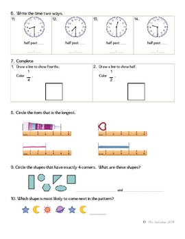 Math Review Worksheet 3