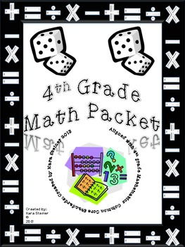 Math Review Worksheet Packet