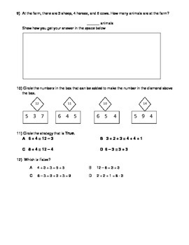 Math Review- addition 3 numbers, tens and ones, double digit addition