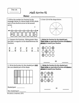 Everyday Math Reviews for 3rd Grade