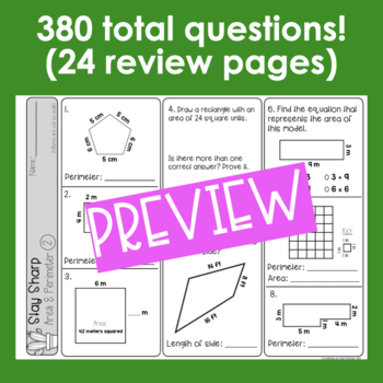 Math Review and Test Prep Bundle