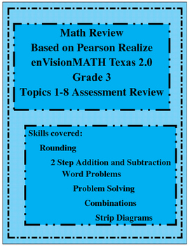 Pearson Realize 2 0 Grade 3 Topic One Test Worksheets & Teaching