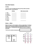 Math Review for Chemistry (worksheet)