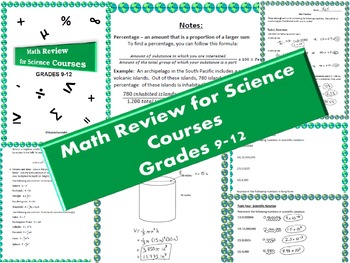 Math Review for Science Courses Grades 9-12