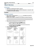 Math Review Lesson for Science Teachers