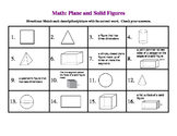 Math Review of Plane and Solid Geometric Figures