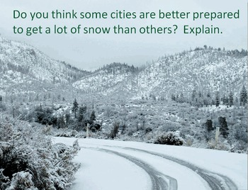 Math Review with Snowfall Stories - A Perfect Activity for December and January