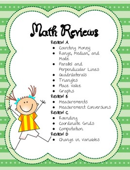 Math Reviews - Fourth Grade