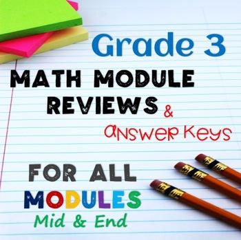 Math Reviews for Grade 3 ALL Modules 1-7!