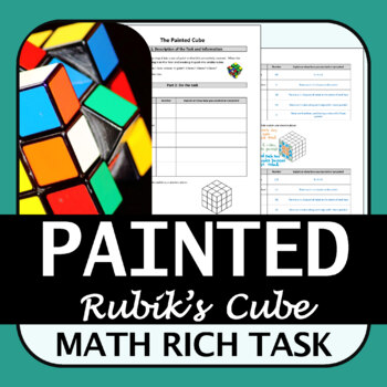 Math Rich Task | Painted Cube | Surface Area and Volume | Standards-Based