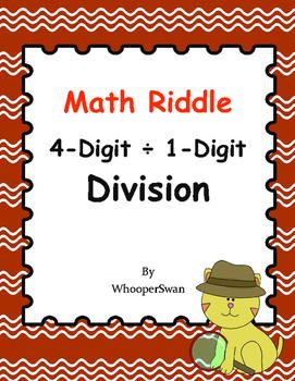 Math Riddle: 4-Digit ÷ 1-Digit Division