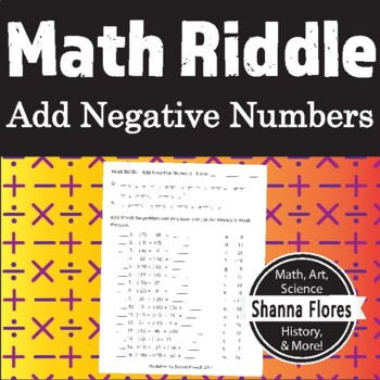 Math Riddle - Adding Negative Numbers - Fun Math