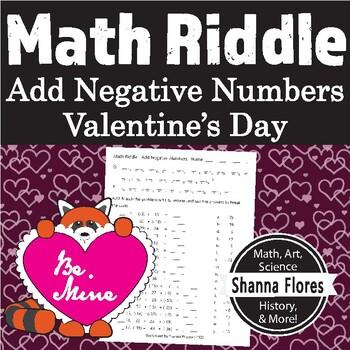 Valentine's Math Riddle - Adding Negative Numbers - Fun Math