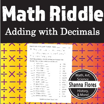 Math Riddle - Adding Numbers with Decimals - Fun Math