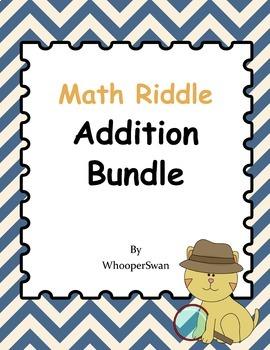 Math Riddle Addition Bundle