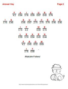 Math Riddle: Converting Percents to Decimals