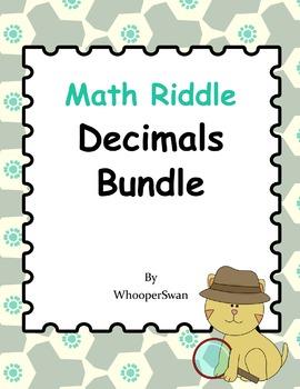 Math Riddle: Decimals Bundle