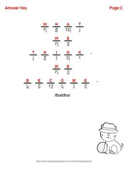 Math Riddle: Dividing Fractions