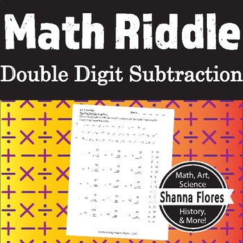 Math Riddle - Double Digit Subtraction Worksheet - Fun Math