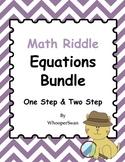 Math Riddle: Equations Bundle