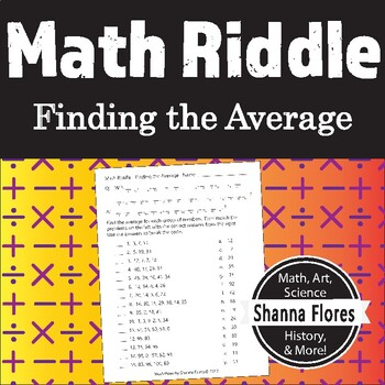 Math Riddle - Finding the Average - Fun Math