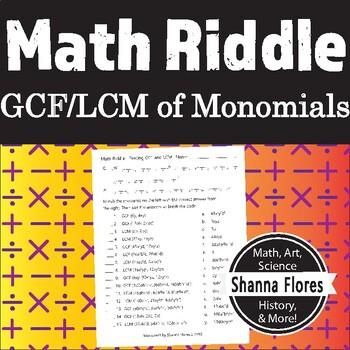 Gcf And Lcm Worksheet Teaching Resources Teachers Pay Teachers