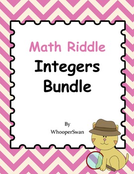 Math Riddle: Integers Bundle