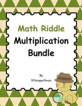 Math Riddle Multiplication Bundle