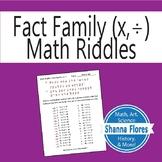 Math Riddle - Multiplication/Division Fact Families - Fun Math
