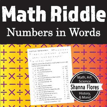 Math Riddle - Numbers Written in Words - Fun Math