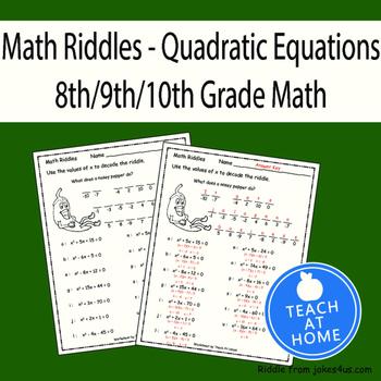 Math Riddle - Quadratic Equations, Factoring - Fun Math