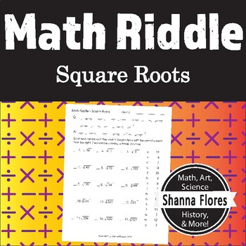 Math Riddle - Square Root (Integers only) - Fun Math