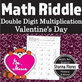 Math Riddle St. Valentine's Day - Double Digit Multiplication - Fun Math