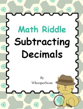 Math Riddle: Subtracting Decimals