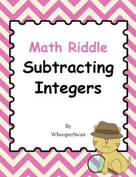 Math Riddle: Subtracting Integers