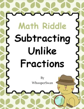 Math Riddle: Subtracting Mixed Fractions