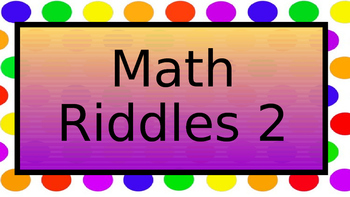Math Riddles 2