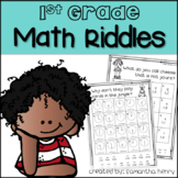 Math Riddles for 1st Grade *DISTANCE LEARNING COMPATIBLE*