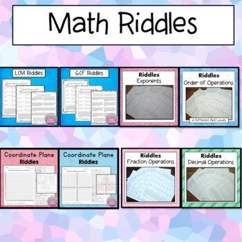 Math Riddles Bundle