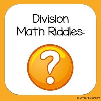 Long Division Math Riddles